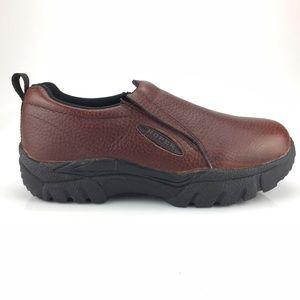 Roper Performance Sport Bay Brown Leather Slip On